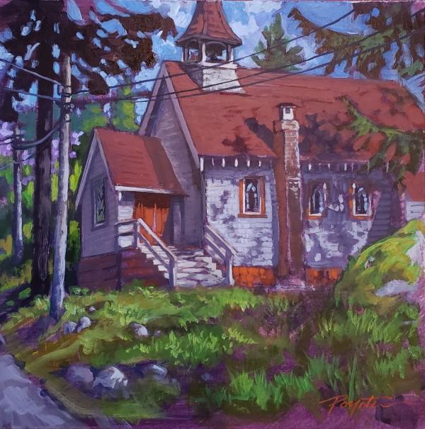 """St. Aidan's church - Roberts Creek BC"" by Jan Poynter"