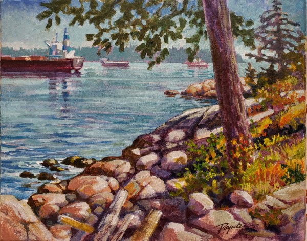Anchorage - West Van shore by Jan Poynter