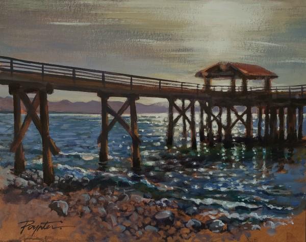 Davis Bay - October sun by Jan Poynter