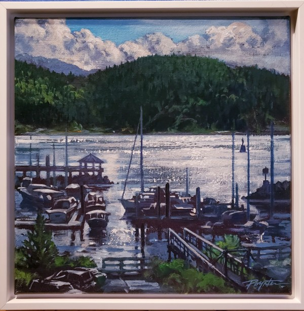Harbour sparkle - gibsons landing by Jan Poynter