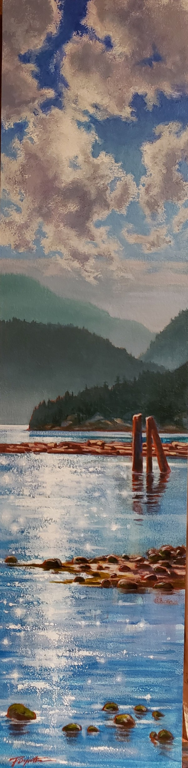 Sparkle - log sort Howe Sound by Jan Poynter