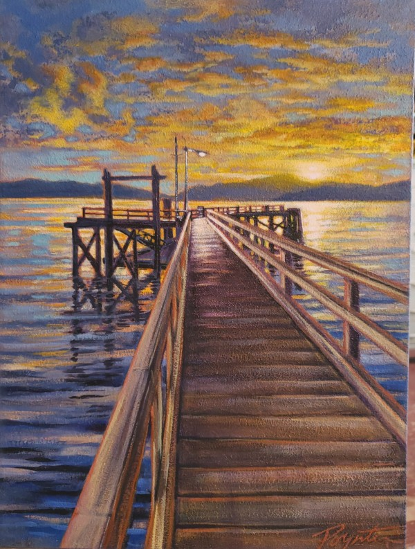 Sunrise lights - Hopkins Landing by Jan Poynter