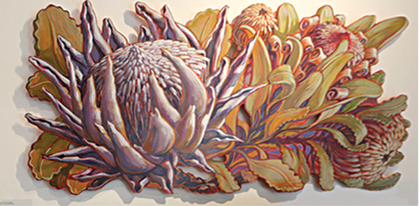 LIVE EDGE  Banksia & Protea #2 by Jan Poynter