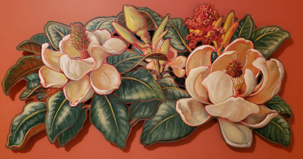 LIVE EDGE - Magnolia #1 by Jan Poynter