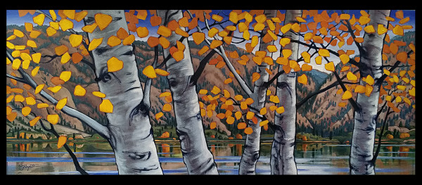 """""""Okanagan Birch #5"""" by Jan Poynter"""