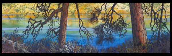 """Kalamalka Lake - Blues #3"" by Jan Poynter"