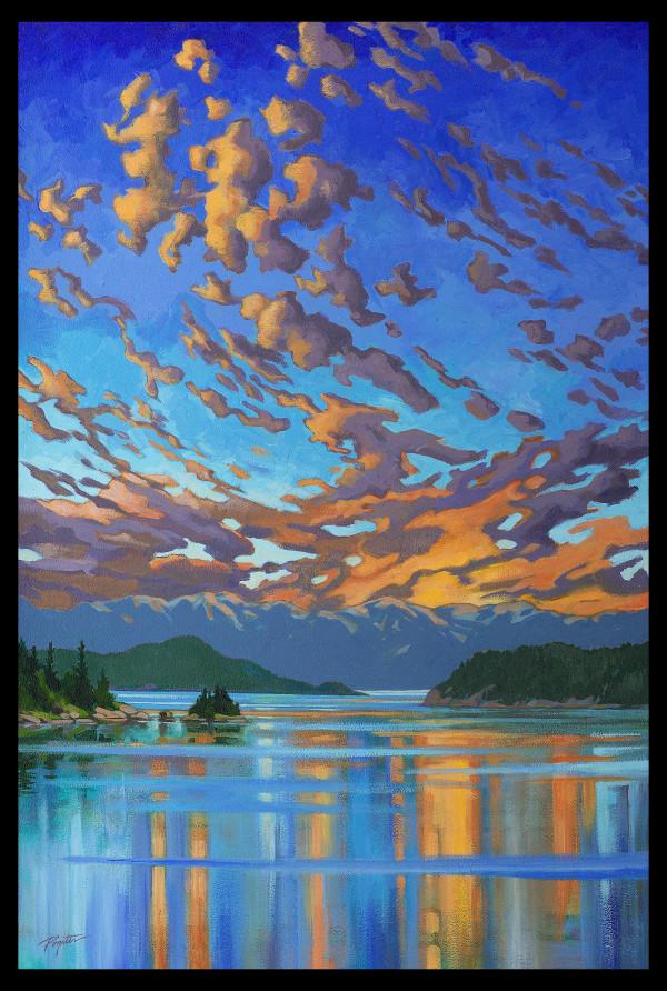 "GICLEE  ""Fire & Water - Howe Sound sunset"" by Jan Poynter"