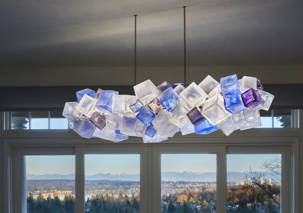 Seattle Private Residence Chandelier  by Joseph McDonnell