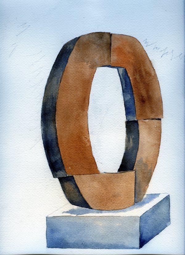 锁定块我(etruria)Joseph McDonnell的水彩画