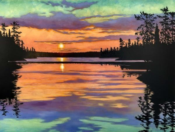 Tangerine Sunrise by Melissa Jean