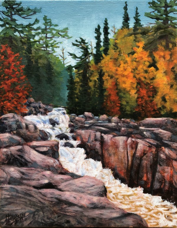 Falls at Sand River by Melissa Jean