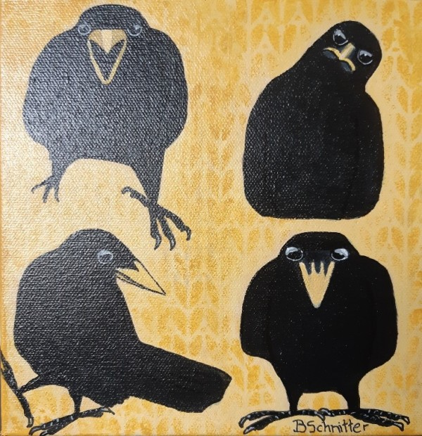 Crow gathering by Bonnie Schnitter