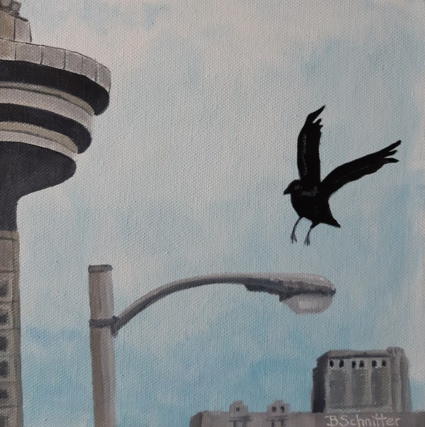 Vancouver Crow by Bonnie Schnitter