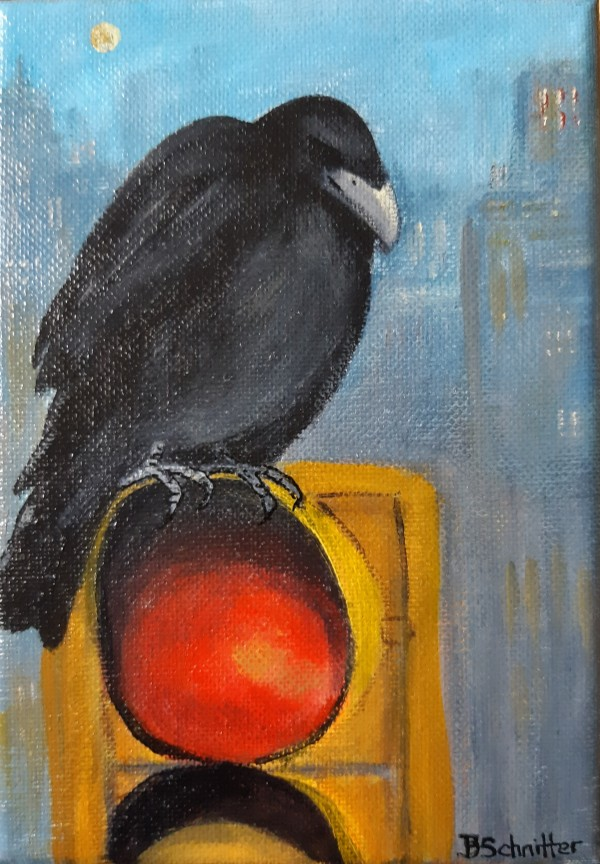 Solitary Crow by Bonnie Schnitter