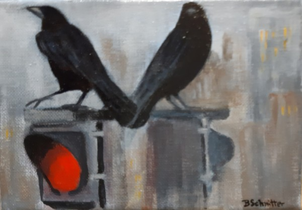 City Crows by Bonnie Schnitter