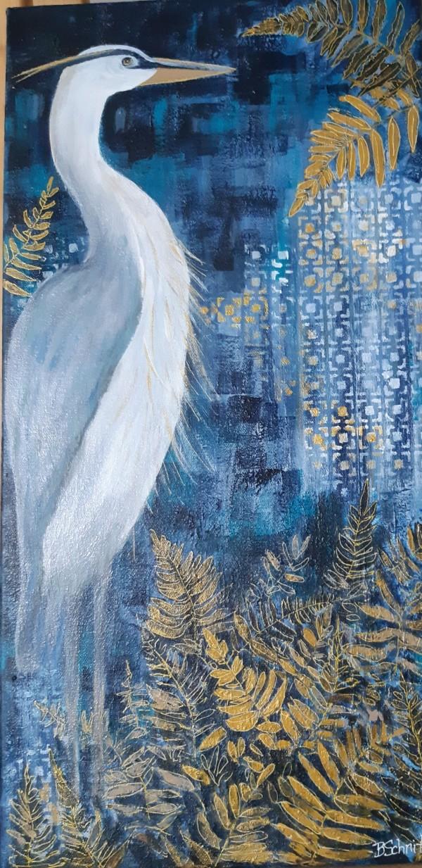 Blue Heron by Bonnie Schnitter