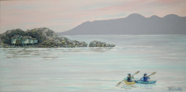 Shack Island Kayakers by Bonnie Schnitter