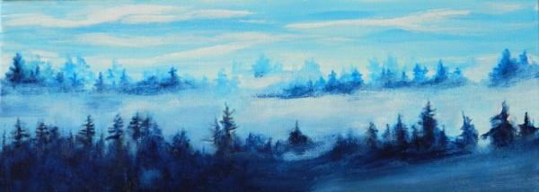 Misty hills by Bonnie Schnitter