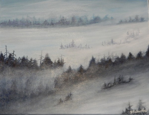 Misty Morning by Bonnie Schnitter