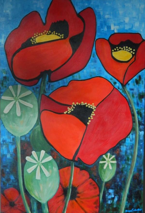 Poppies 3 by Bonnie Schnitter