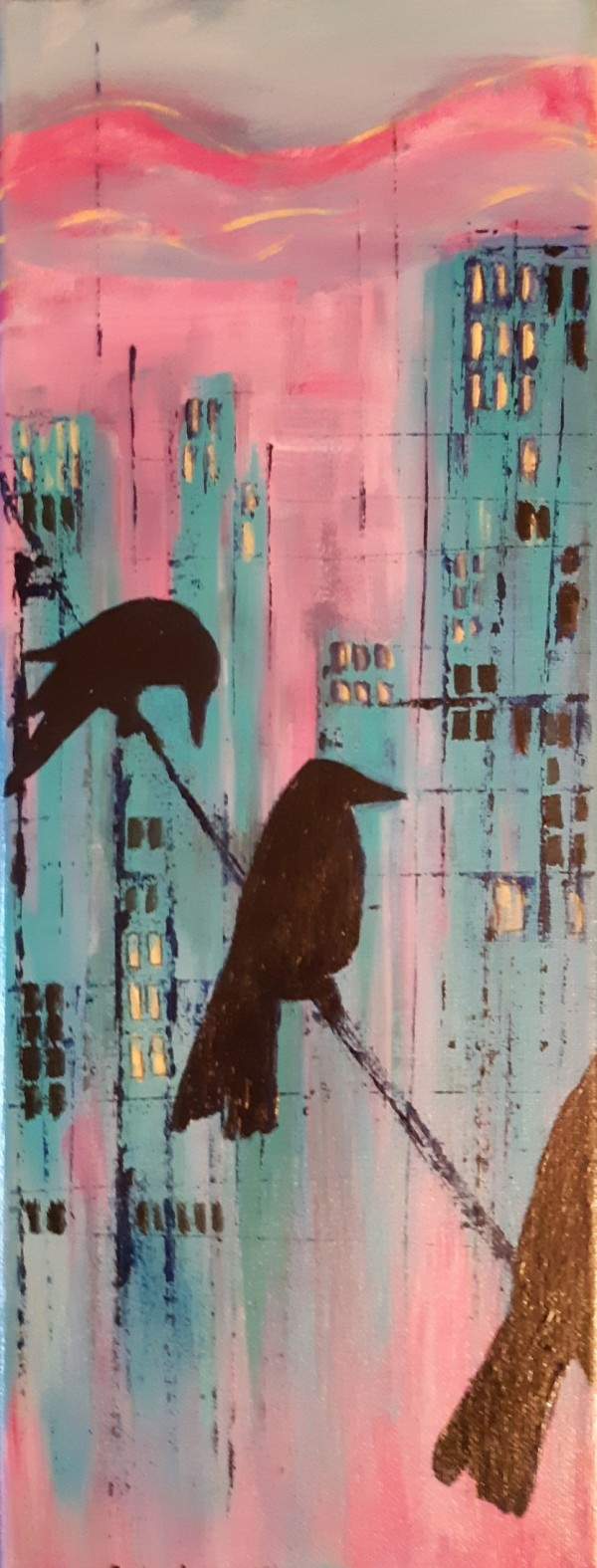'Downtown Crows' by Bonnie Schnitter