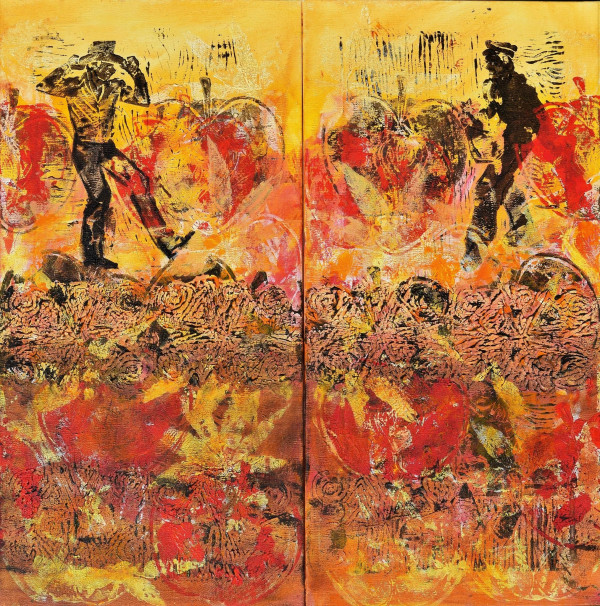 A Mother's Son's Diptych by Gwen Meharg