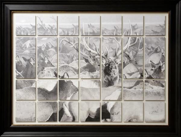 Winter Gathering - Original by Jerry Locati