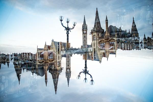 Gent vanop Sint-Michielshelling by Robin Vandenabeele