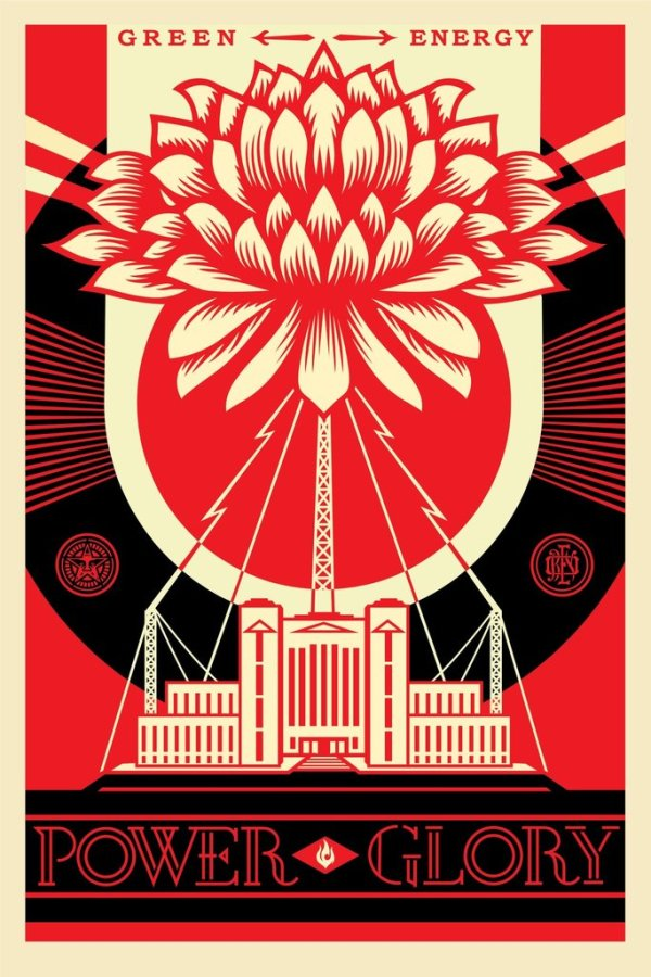 GREEN POWER by Shepard Fairey