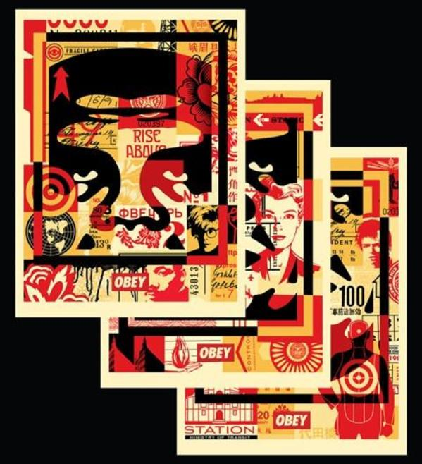 OBEY 3 FACE COLLAGE by Shepard Fairey