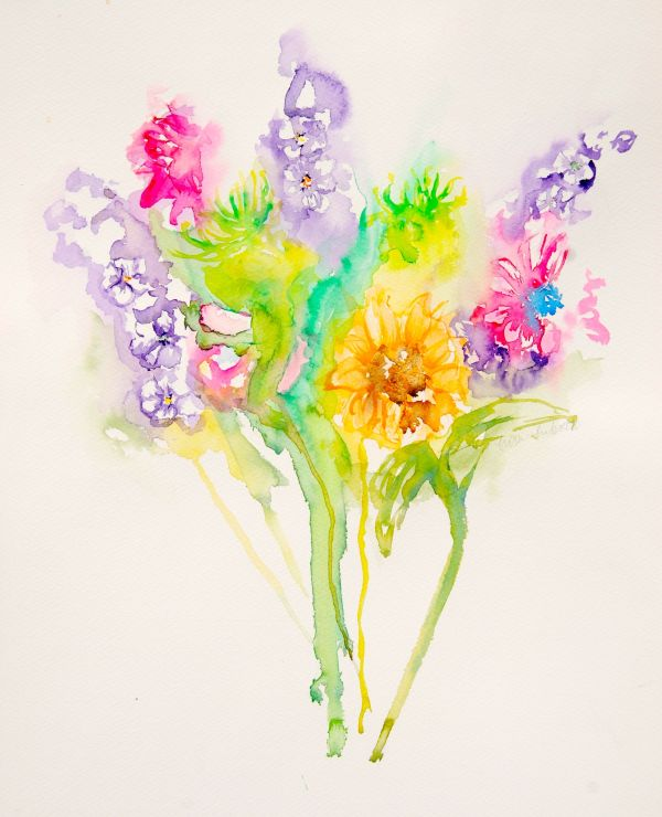 Hot Bouquet - 4pack Notecards by Lisa Libretto