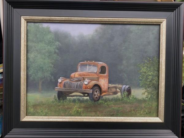 Rusty Red Chevy by Tarryl Gabel