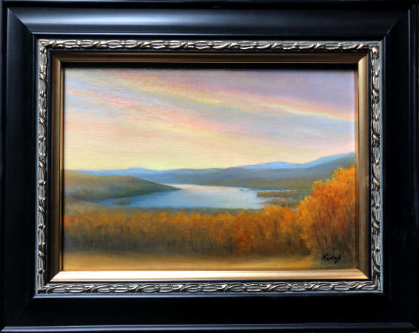 Autumn sunrise Olana by Tarryl Gabel