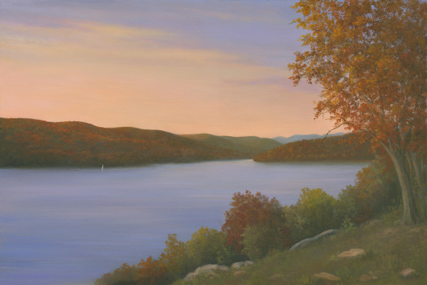 Autumn along the Hudson (from the CIA) by Tarryl Gabel