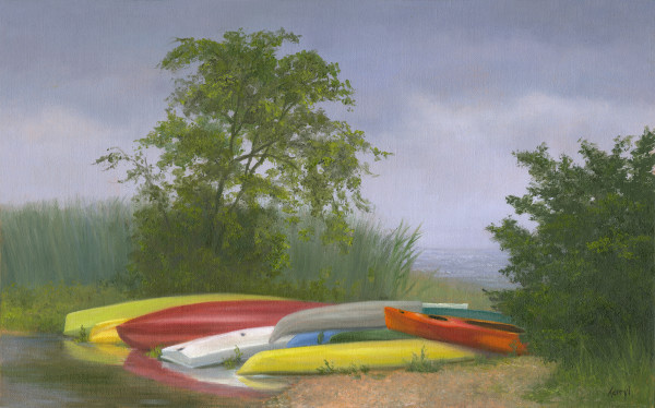 Colorful Kayaks by Tarryl Gabel