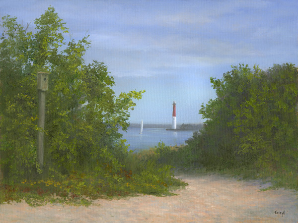 Barnegat Bay View of the Lighthouse by Tarryl Gabel
