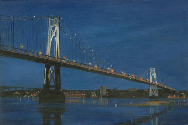 Mid Hudson Bridge nocturne by Tarryl Gabel