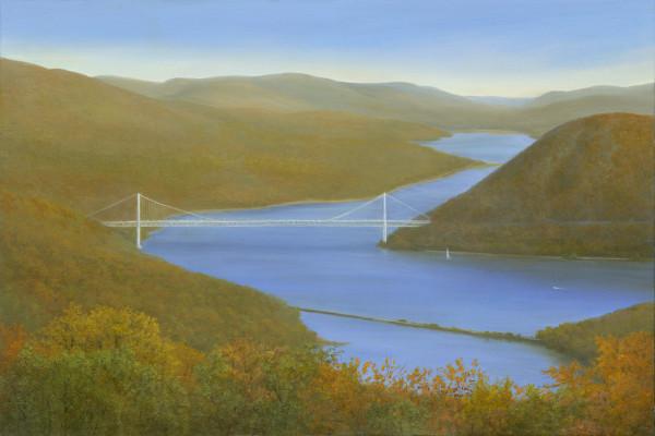Vista with the Bear Mountain Bridge by Tarryl Gabel