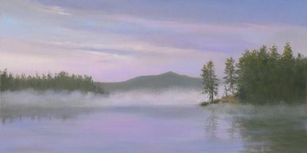 Mist on Barnum Brook Pond by Tarryl Gabel