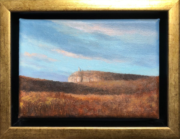 Afternoon light Mohonk Tower, late fall by Tarryl Gabel