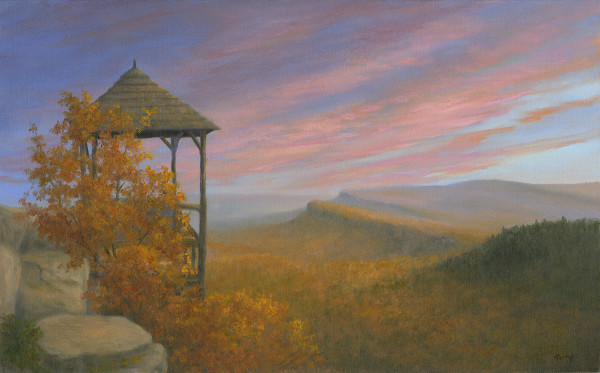 Sunset over Shawangunk Ridge by Tarryl Gabel