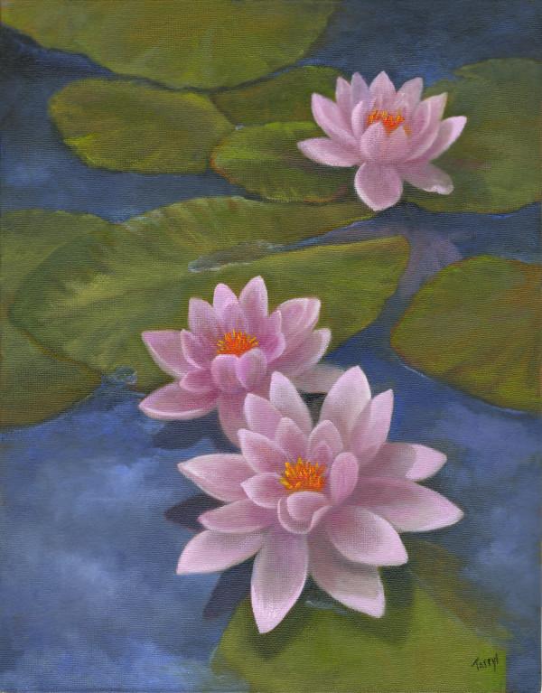 Pink Water Lillies by Tarryl Gabel