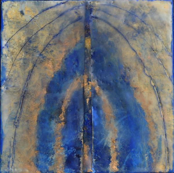 Blue/Gold Arch by Merrilyn Duzy