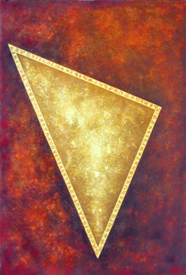 Cosmic Series #2 (Golden Triangle) by Merrilyn Duzy