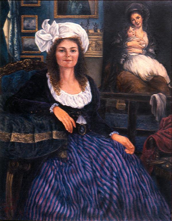 Dorothy Thomas as Elizabeth Vigee-Lebrun by Merrilyn Duzy