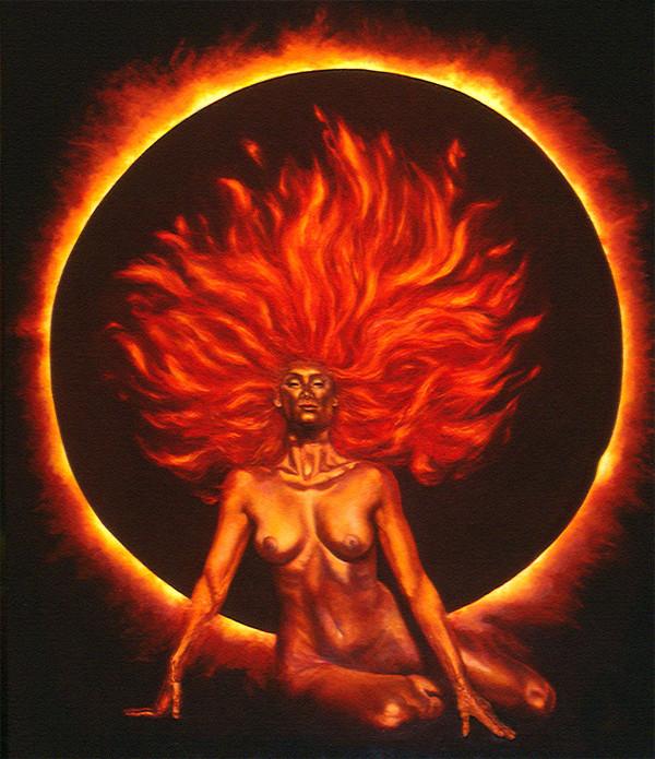Fire Goddess by Merrilyn Duzy