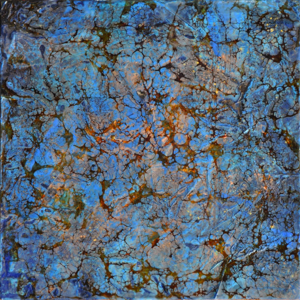 Fractured Blue II by Merrilyn Duzy