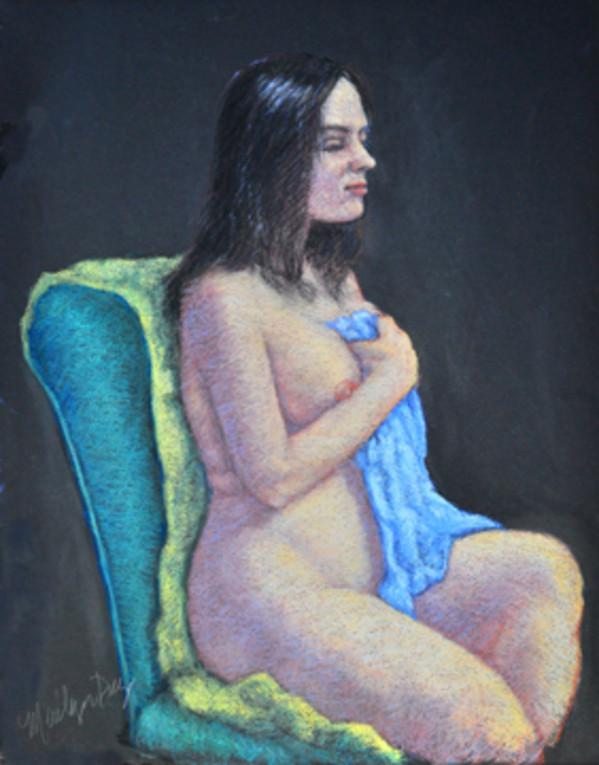 Laura & Green Chair by Merrilyn Duzy