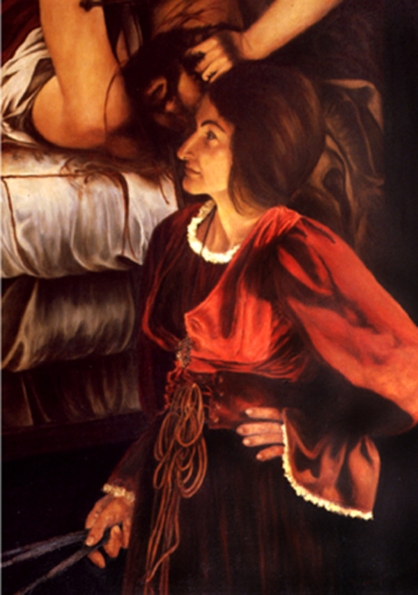 Lucy Blake as Artemisia Gentileschi by Merrilyn Duzy
