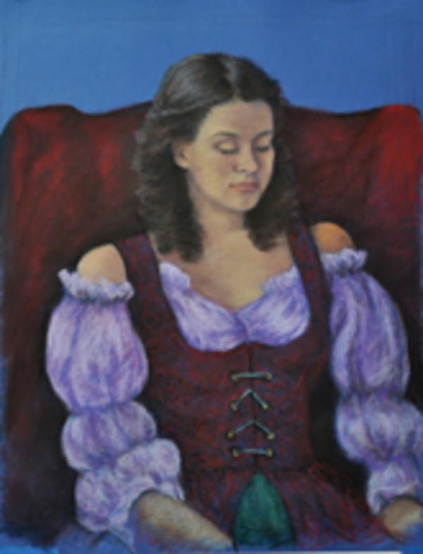 Lynette Davis (In Red Dress) by Merrilyn Duzy